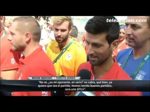Djokovic se entera que del Potro sera su primer oponente #Rio2016