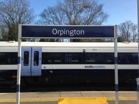 Full Journey on Southeastern from Orpington to London Victoria (via Bromley South and Herne Hill)