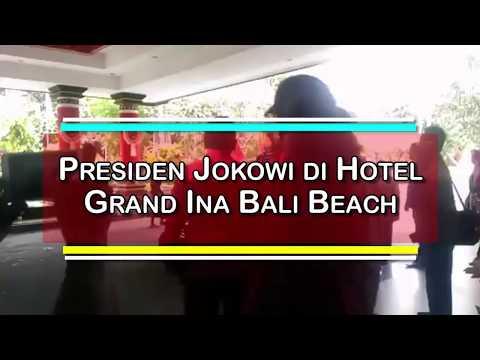 Kedatangan Presiden RI Joko Widodo di Hotel Grand Ina Bali Beach