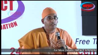 Swami Bodhamyananda maharaj at IMPACT 2013 Dec  ( Great Telugu Speeches)