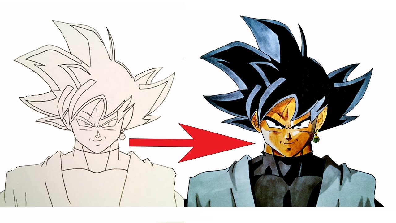 COMMENT BIEN COLORIER !? BLACK GOKU