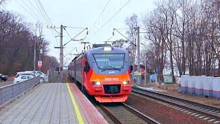 Railway. Intercity EMU Train EP3D to Ussuriysk City / Междугородный электропоезд ЭП3Д в Уссурийск
