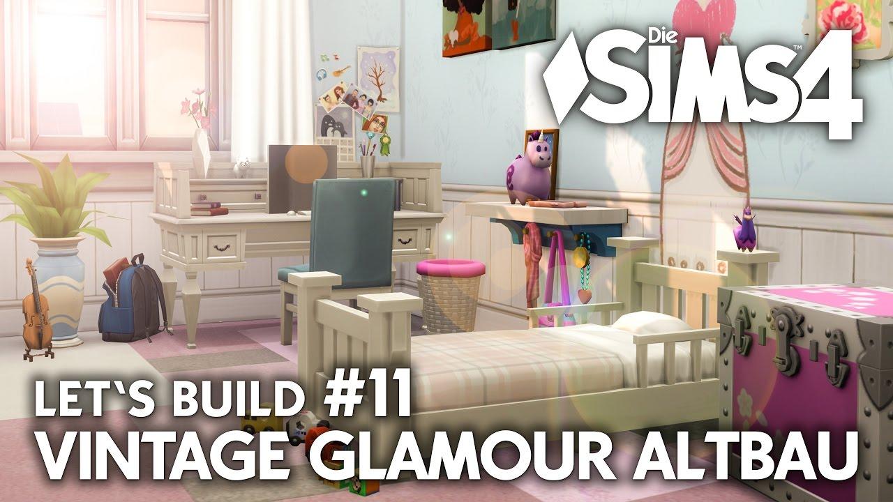 Jugend- & Kinderzimmer | Die Sims 4 Haus bauen | Vintage Glamour ...