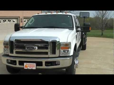 2008 FORD F350 LARIAT FLAT BED 4X4 DIESEL FOR SALE SEE WWW SUNSETMILAN COM