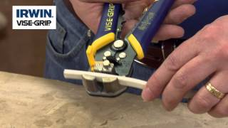 Using the Irwin Self Adjusting Wire Stripper