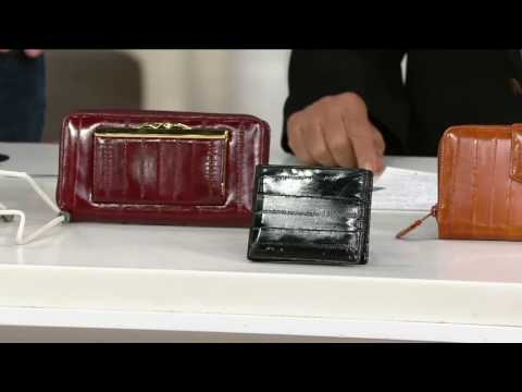 Lee Sands Eelskin Wallet with RFID Protection on QVC