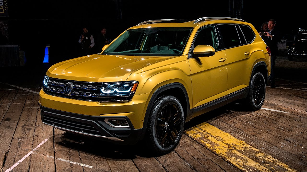 2018 volkswagen atlas unveiling vw atlas base price will start near 30 000 1080q youtube. Black Bedroom Furniture Sets. Home Design Ideas