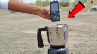 Jio Phone vs Mixer Grinder Experiment || Jio Phone Inside Mixer Grinder || Experiment King