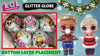 LOL Surprise Glitter Globe Winter Disco Full Box Unboxing Bottom Layer Weight and Box Placement Gold