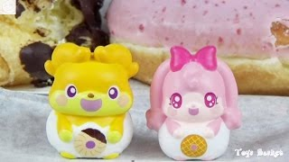 アニメかみさまみならい ヒミツのここたまのおもちゃ「ミスタードーナツ オリジナル モグタン メロリー」ここたまドールのモグタンとメロリー...