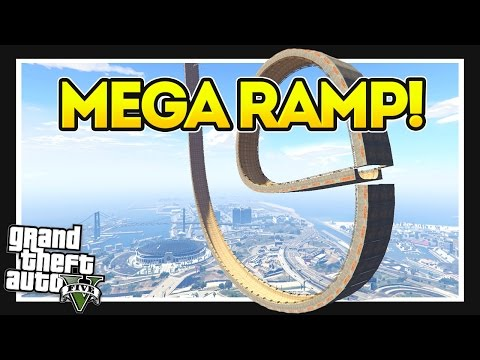 GO KART ATTEMPTS THE MEGA RAMP! GTA 5 Mods Showcase!