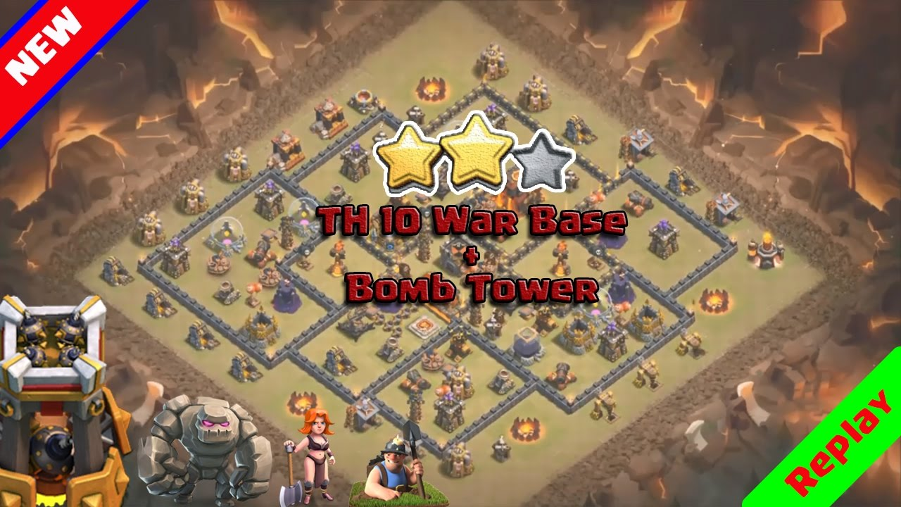 Clash of Clans ♦ TH10 War Base 2016 ♦ ANTI 3 STAR with