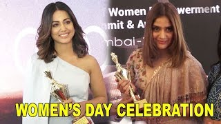 Television Beauties Get awarded on Women's DAY celebration   Hina Khan, Aarti Singh