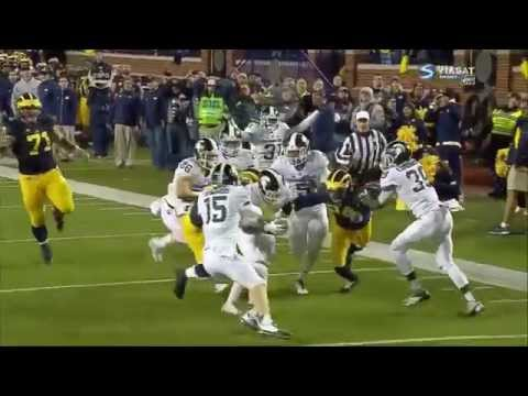 Michigan State wins on botched Michigan Snap. Extraordinary Finish! (Game Clip)
