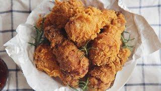 바삭바삭 후라이드 치킨 : Crispy Fried Chicken | Honeykki 꿀키
