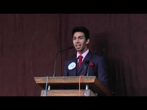 Speech By Siddharth Batra (Head Boy) On The Occasion Of Farewell 2019   DPS Roorkee  