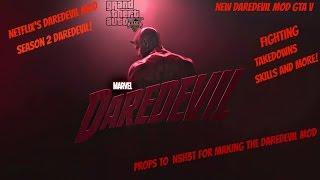 NEW! Gta V Mods DareDevil Season 2 skin  GTA 5 Gameplay!