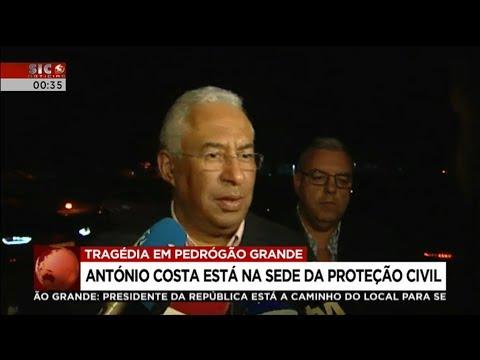 António Costa - Declaração sobre tragédia de Pedrógão Grande