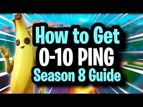 How to Get LOWER PING in Fortnite! COMPLETE GUIDE for 0-10 ping ~ Season 8  (Best Connection No Lag)