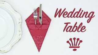 Wedding Table Decoration ❤️ Fold A Cutlery Sleeve Out Of A Napkin