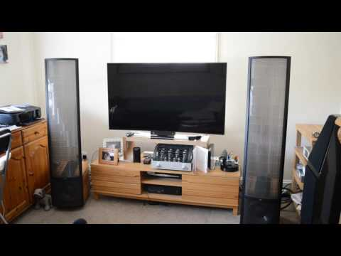 Martin Logan Montis with Prima Luna Dialogue Premium HP Integrated Amplifier, playing Angels