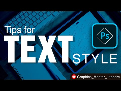 Photoshop Text Style | Learn New Way Of Text Style Creation | Graphics Designing