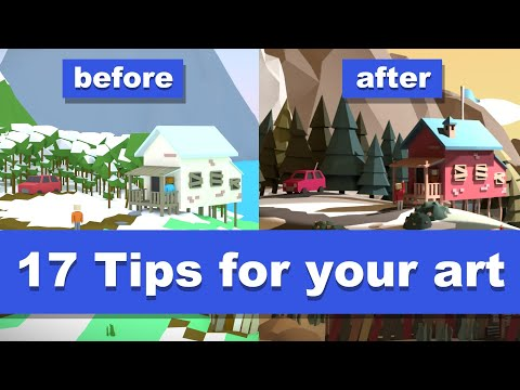 Improve your lowpoly artwork [Feedback]
