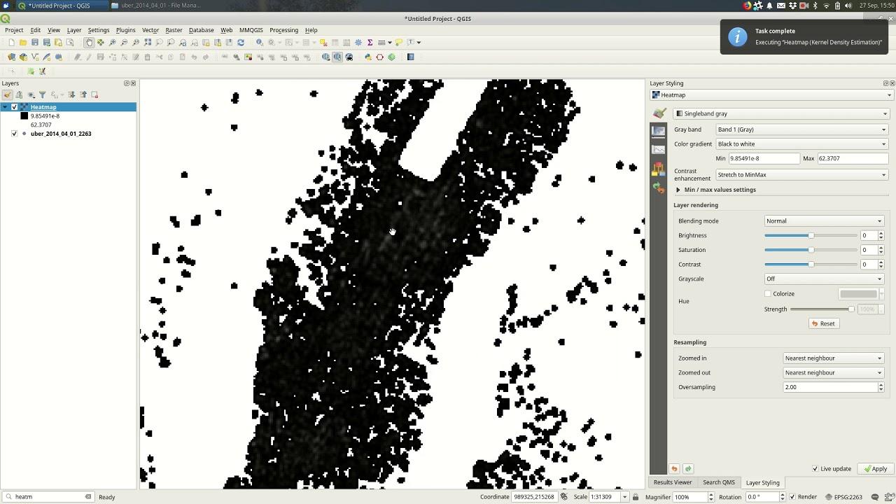 QGIS 3: Heatmaps