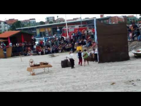 Espectacular desembarco pirata en O Grove