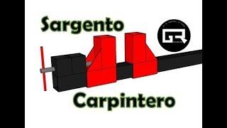 Prensa o sargento de carpintería ¿Cómo hacer? | Homemade screw clamp