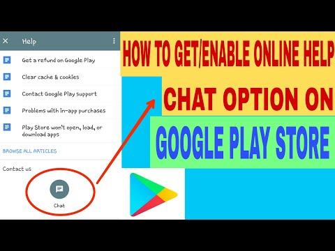 How To Get/Enable Online Help Chat Option In Google Play Store 2018