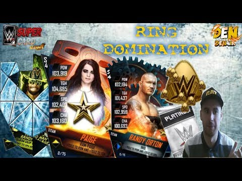 WWE SUPERCARD !RING DOMINATION ! TITAN PAIGE & RANDY ORTON PRO PVP ! На русском