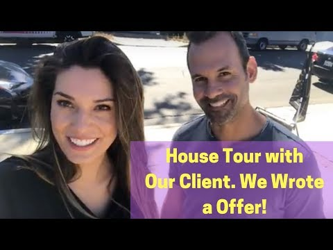 House Tour with Our Client  We Did Write an Offer!