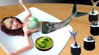 EATING MERMAID SUSHI WITH WASABI !!!  Kluna Tik VT Dinner #110  ASMR eating sounds no talk