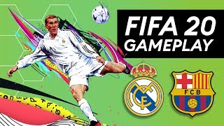 FIFA 20 OFFICIAL GAMEPLAY! FC Barcelona vs. Real Madrid | NEW gameplay features explained!