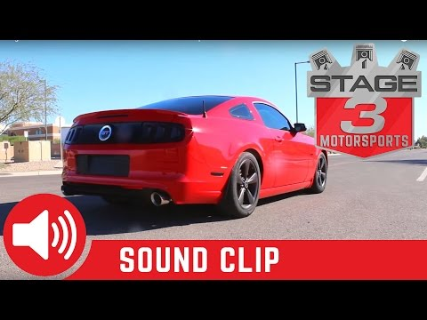 2011-2014 Mustang GT 5.0L SOLO Performance Cat back Exhaust Kit Sound Clip