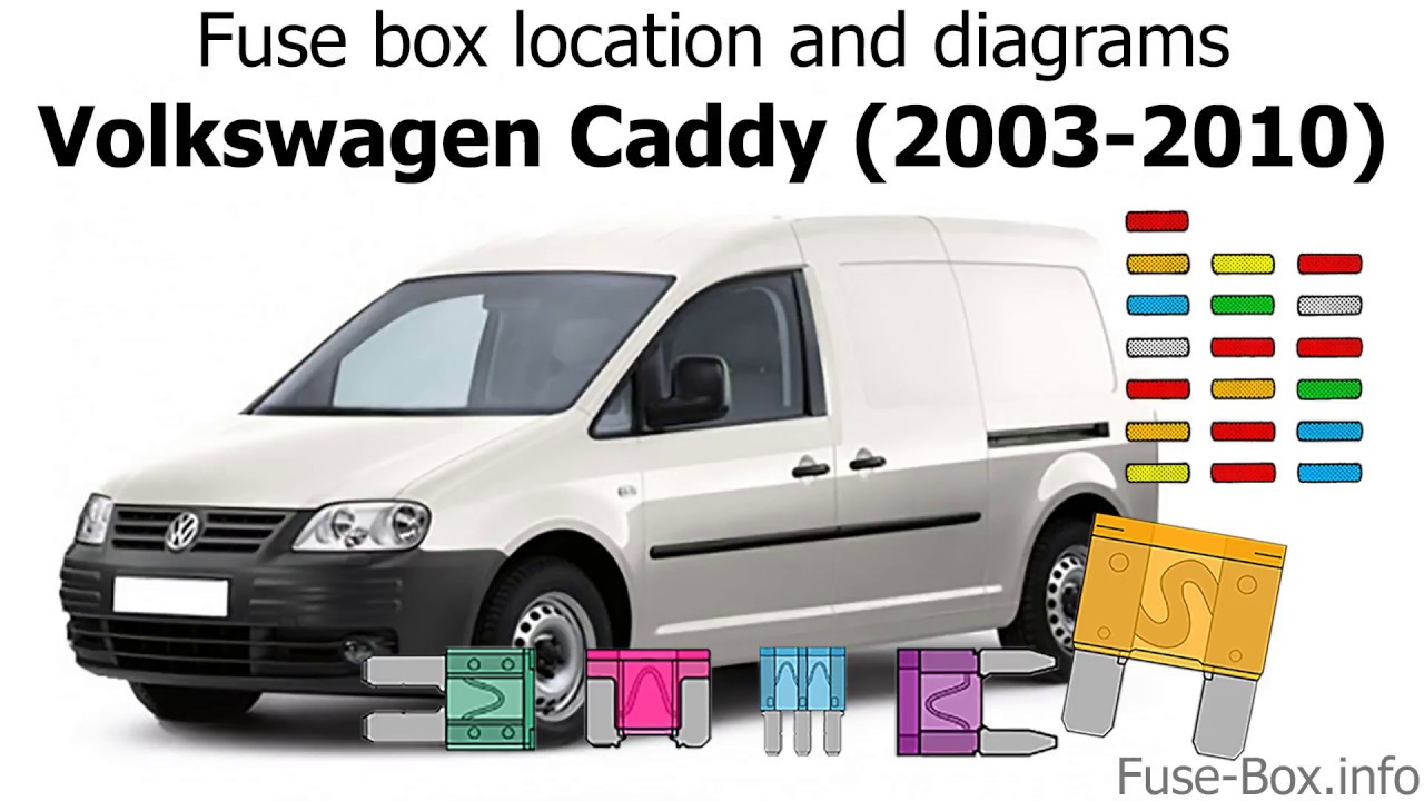 [DIAGRAM_38ZD]  Fuse box location and diagrams: Volkswagen Caddy (2003-2010) - YouTube | Vw Caddy Wiring Diagram |  | YouTube