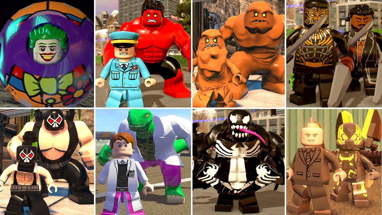 All Super-Villain Transformations and Suit Ups in LEGO Videogames