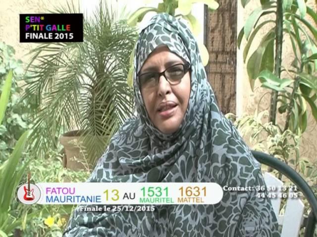 La Mauritanienne Fatou Diop en Finale de SENE PETIT GALLE  le 25 Décembre 2015.