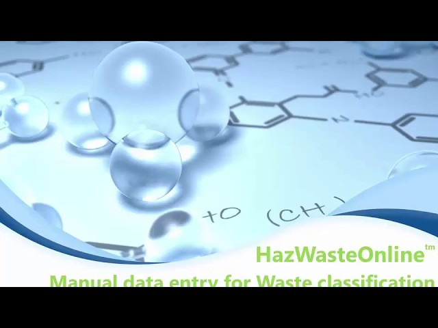 How to manually enter your data in HazWasteOnline
