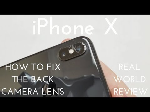 IPhone X Back Camera Glass Replacement (How To Fix The Camera Lens For ~$7)