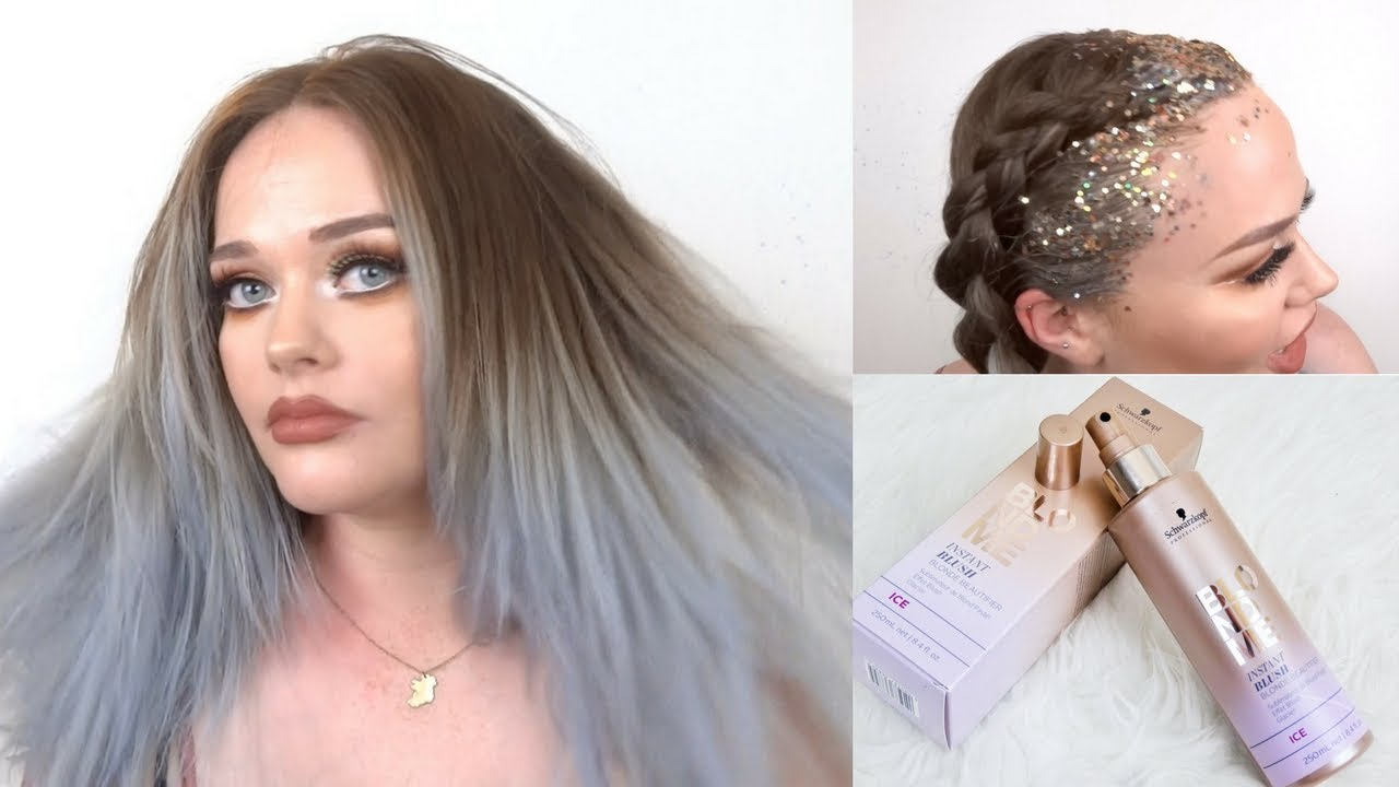 Easiest Fastest Way To Colour Your Hair Glitter Roots