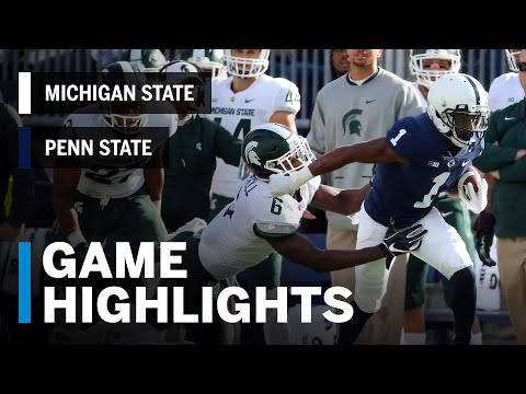 Highlights: Michigan State Spartans vs. Penn State Nittany Lions   Big Ten Football