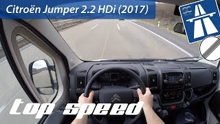Citroën Jumper 2.2 HDi (2017) on German Autobahn - POV Top Speed Drive