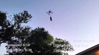 DJI Inspire 1 - Maxium Payload Lift Capacity Carrying Test