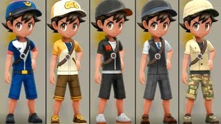 Pokemon Lets Go Pikachu and Eevee - All Outfits and How To Get Them