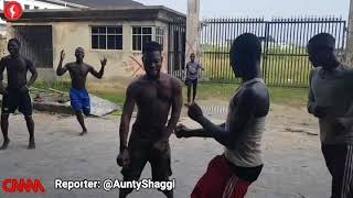 Brodashaggi and his boys playing football