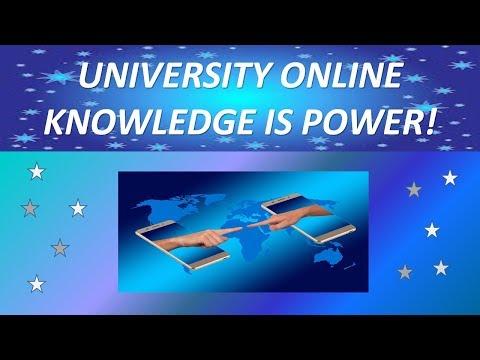 University Online - Knowledge Is Power!