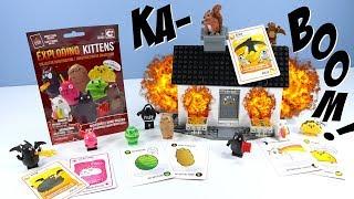 Exploding Kittens C3 Construction Toys Mini-Figures and House Scene Set