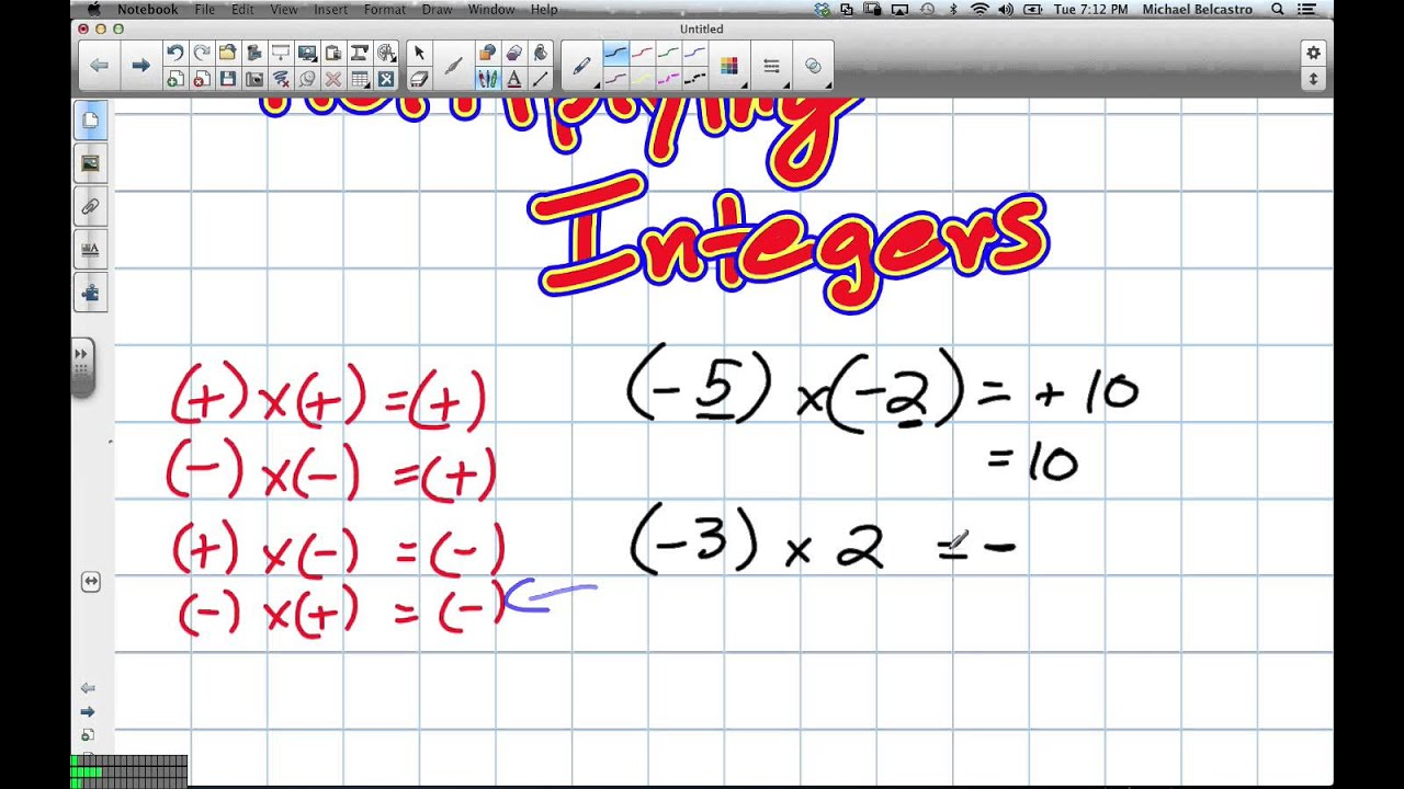 medium resolution of Multiplying and Dividing Integers Grade 8 Nelson Lesson 6 1 and 6 2 2 5 13  - YouTube